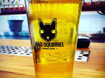A pint from the Mad Squirrel pub in High Wycombe