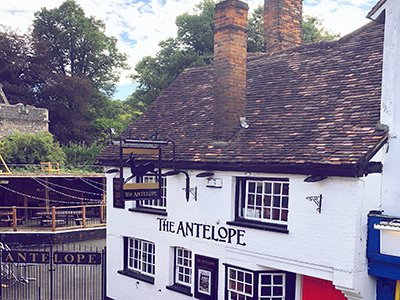 The exterior of The Antelope pub in High Wycombe