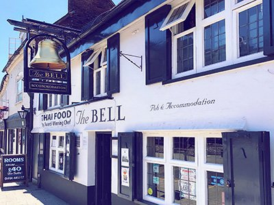 Exterior of The Bell pub in Frogmoor
